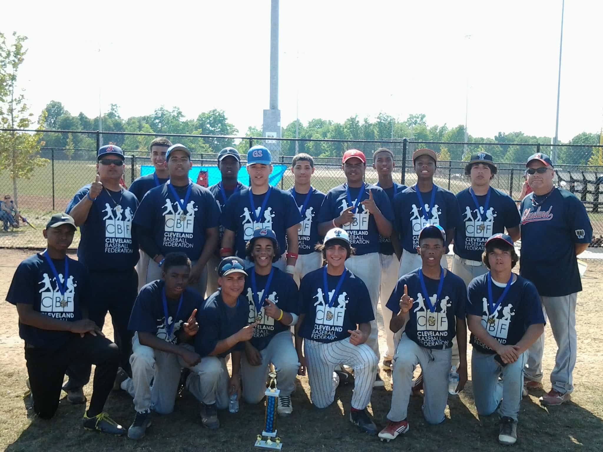 "Coach Cassellberry and Cleveland RBI 15U! 2012 ""Pray Before You Play"" 16U Tournament Champs!"