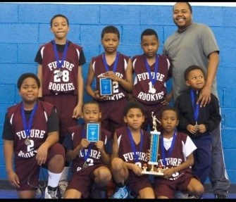 Coach Robert Pollard and The Future Rookies. 2013 March Madness 4th Grade Champs